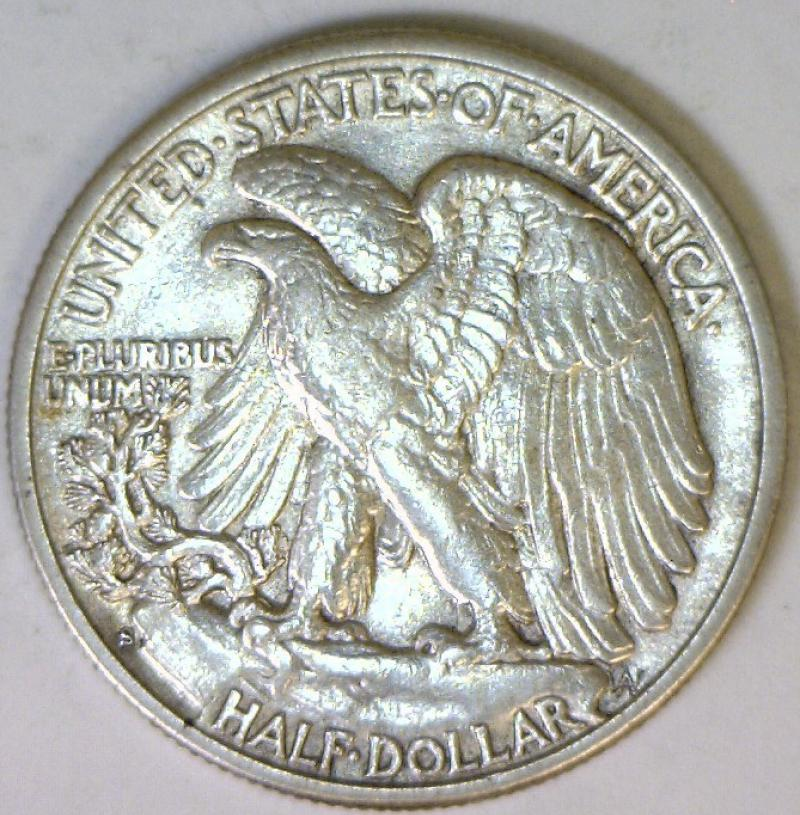 1928 S Large S Walking Liberty Half Dollar Au Scarce