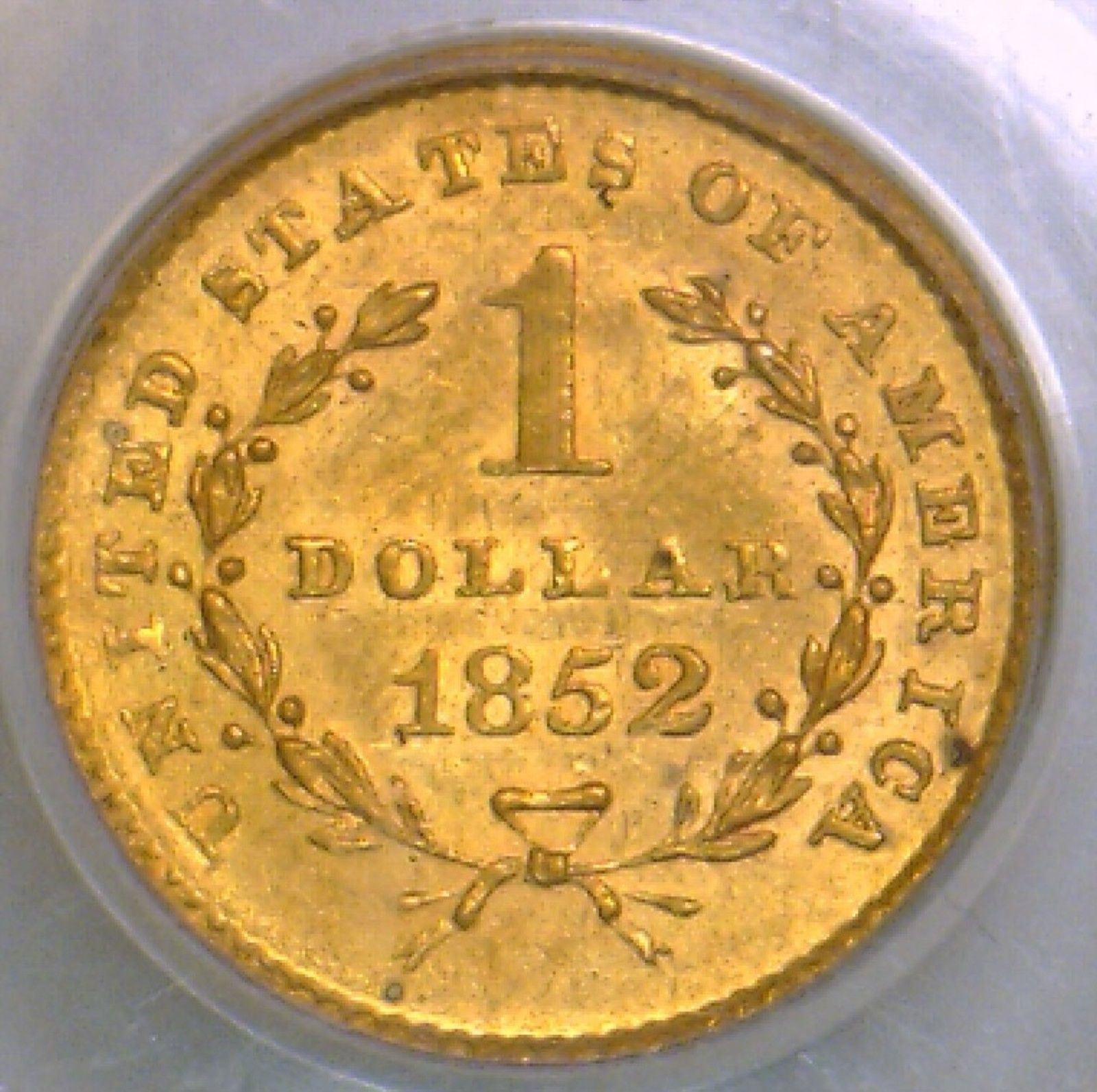 1852 gold 1 pcgs ms 63 great type coin ebay - Coin casa shop on line ...