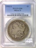 1903-S Micro-S Morgan Dollar PCGS G-06; Original, Looks VG