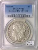 1888-O Doubled Die Obverse Morgan Dollar PCGS VF-30