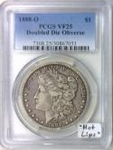1888-O Doubled Die Obverse Morgan Dollar PCGS VF-25