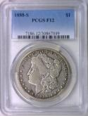 1888-S Morgan Dollar PCGS F-12