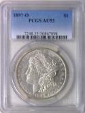 1897-O Morgan Dollar PCGS AU-53