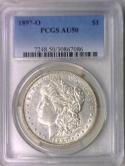 1897-O Morgan Dollar PCGS AU-50