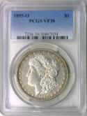 1895-O Morgan Dollar PCGS VF-30