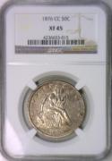 1876-CC Seated Liberty Half Dollar NGC XF-45