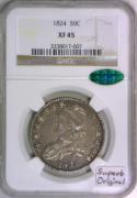 1824 Bust Half Dollar NGC XF-45 With CAC; Superb Original!