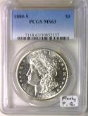 1880-S Morgan Dollar PCGS MS-63; Flashy,  Premium Quality!