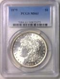 1879 Morgan Dollar PCGS MS-61