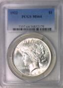 1922 Peace Dollar PCGS MS-64
