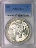 1926 Peace Dollar PCGS MS-64