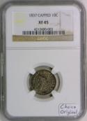 1837 Capped Bust Dime NGC XF-45; Choice Original!