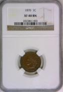1870 Indian Head Cent NGC XF-40