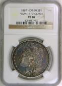 1887 Morgan Dollar NGC VF-30; VAM-1B