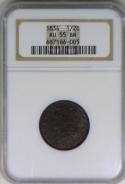 1834 Half Cent NGC AU-55 BN
