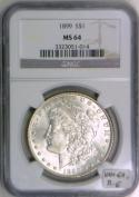 1899 Morgan Dollar NGC MS-64 With VAMSeal Label; VAM-6A, R-6