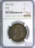 1814 Bust Half Dollar NGC F-12; Choice Original