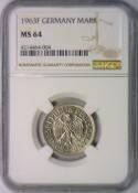 1963-F Germany Mark NGC MS-64