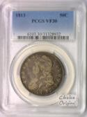 1813 Bust Half Dollar PCGS VF-30; Choice Original!