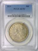 1829 Bust Half Dollar PCGS AU-53