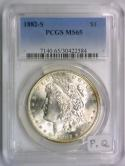 1882-S Morgan Dollar PCGS MS-65; Premium Quality!