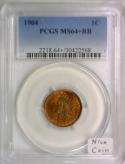 1904 Indian Head Cent PCGS MS-64+RB; Nice Coin!