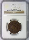 1831 Large Cent NGC G-4; N-1
