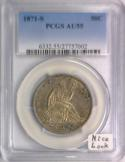 1871-S Seated Liberty Half Dollar PCGS AU-55; Nice Look