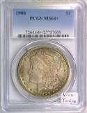 1900 Morgan Dollar PCGS MS-64+; Nice Toning!