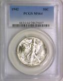 1942 Walking Liberty Half Dollar PCGS MS-64