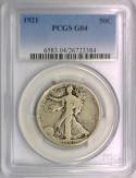 1921 Walking Liberty Half Dollar PCGS G-04