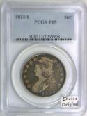 1822/1 Bust Half Dollar PCGS F-15; Choice Original!