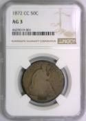 1872-CC Seated Liberty Half Dollar NGC AG-3