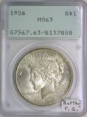 1926 Peace Dollar PCGS MS-63;