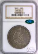 1844 Seated Liberty Dollar NGC XF-45 With CAC; Choice Original!
