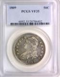 1809 Bust Half Dollar PCGS VF-35