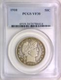 1910 Barber Half Dollar PCGS VF-30