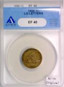 1858 Large Letters Flying Eagle Cent ANACS EF-40; Nice Original!