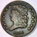 1826 Half Cent VF; 180 Degree Rotated Reverse; C-2,R-3