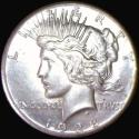 1928 Peace Dollar; UNC with Old Cleaning; Key Date!