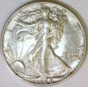 1928 Large S Walking Liberty Half Dollar; AU-; Scarce!