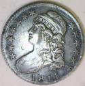 1814 Single Leaf Bust Half Dollar; XF-; O-105a Variety, R-4; Very Scarce!