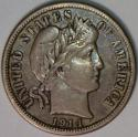 1914-S Barber Dime; XF; Choice Original!
