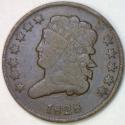 1828 Half Cent; C-2, Twelve Stars; VG/F; Nice Smooth