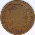 1829 Half Cent F+/VF