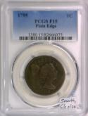 1795 Large Cent PCGS F-15; Plain Edge; S-77, R-3; Smooth, Choice!