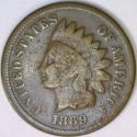 1869 Indian Cent; Strong G+