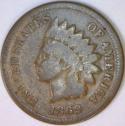 1869 Indian Head Cent; Nice G-VG
