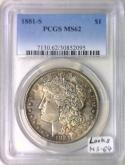 1881-S Morgan Dollar PCGS MS-62; Looks MS-64! Nice Antique Tone!