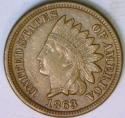 1863 Indian Head Cent; Choice XF